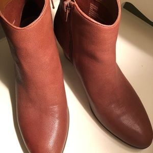 Bass Brown vegan leather booties size 7.5